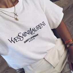 Saint Laurent Paris Tshirt YSL Tee Vintage Crewneck Aesthetic Clothing YSL Shirt | Etsy (US)
