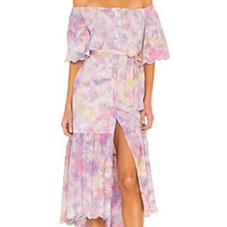 Beautiful dress - lovely color and print! It does run on the larger side but comes with a tie. Pl... | Revolve Clothing (Global)