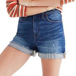 High Rise Cuffed Denim Shorts | Nordstrom