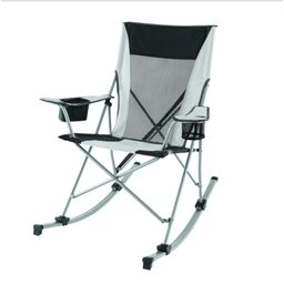 Ozark Trail Outdoor Tension Camp 2 in 1 Rocking Chair, White   Walmart (US)