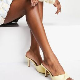 Qupid strappy mule sandals in yellow | ASOS (Global)