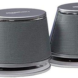 Amazon Basics USB-Powered PC Computer Speakers with Dynamic Sound | Silver | Amazon (US)