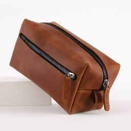 Leather Dopp Kit Engraved | Addstyleco