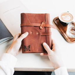 Leather Journal Engraved | Addstyleco