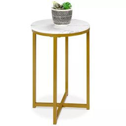 Best Choice Products 16in Faux Marble Modern Round Living Room Accent Side Table w/ Metal Frame | Target