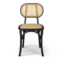 Lin Set Of 2 Solid Wood And Natural Cane Chairs | Wayfair North America
