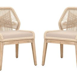S/2 Easton Rope Side Chairs, Sand/Light Gray | One Kings Lane