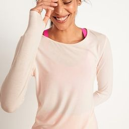 UltraLite Boat-Neck Long-Sleeve Performance Top for Women   Old Navy (US)
