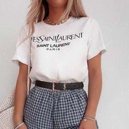 2021 Gift Style YSL for Women Men Paris New York Milan Fashion Show Unisex Trending Hoodie Sweats... | Etsy (US)