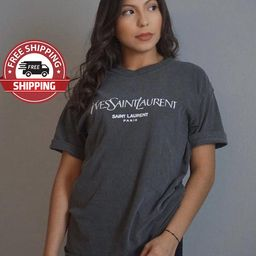 Luxury T-shirt , YSL t-shirt ,  Yves Saint Laurent T-Shirt, Ysl shirt, T-SHIRT | Etsy (US)