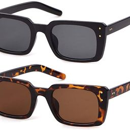 Retro Vintage Square Women Sunglasses Small Plastic Frame with Rivet   Amazon (US)