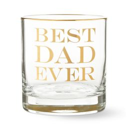 Best Dad Ever Double Old-Fashioned Glass   Williams-Sonoma