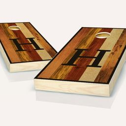 Multicolored Monogram Stained Cornhole Set with Bags    Etsy   Etsy (US)