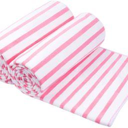 "JML Microfiber Beach Towels, Bath Towel (2 Pack, 30"" x 60"" ) Cabana Stripe Absorbent and Quick Dr... | Amazon (US)"