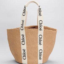 Chloe Woody Logo Large Basket Tote Bag | Bergdorf Goodman