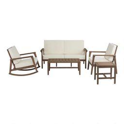 Natural Eucalyptus Zaragoza Outdoor Furniture Collection   World Market