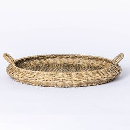 Large Round Manmade Outdoor Wicker Tray - Threshold™ designed with Studio McGee | Target