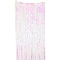 """Way to Celebrate! Pink and Yellow Iridescent Foil Fringe Door Curtain Party Decoration, 1 Ct, 36""""... 