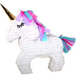 Unicorn Party Pinata with Gold Horn, White, 17in x 21in | Walmart Online Grocery