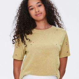Distressed Mineral Wash Tee | Forever 21 (US)