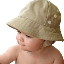 Huggalugs Baby & Toddler Boys Twill Earflap UPF 50+ Sunhat with Chinstrap in 2 Color Choices   Amazon (US)