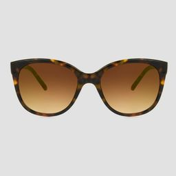 Women's Tortoise Shell Print Square Sunglasses - A New Day™ Brown | Target