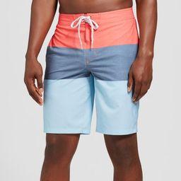 "Men's 10"" Trooper Board Shorts - Goodfellow & Co™ Red   Target"