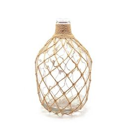 Handcrafted 4 Home 15. in H Clear Glass Table Vase with Jute Rope-MTNY2003 - The Home Depot | The Home Depot