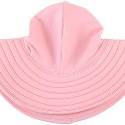 RuffleButts Baby/Toddler Girls UPF 50+ Sun Protective Wide Brim Swimwear Sun Hat | Amazon (US)