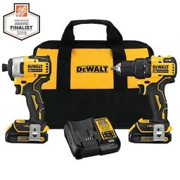 DEWALT ATOMIC 20-Volt MAX Cordless Brushless Compact Drill/Impact Combo Kit (2-Tool) with (2) 1.3... | The Home Depot