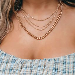 Come Back Soon Necklace: Gold | Shophopes