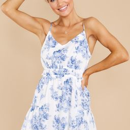 Classic Perfection Blue Floral Print Dress | Red Dress