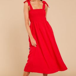 Falling For You Again Red Midi Dress | Red Dress