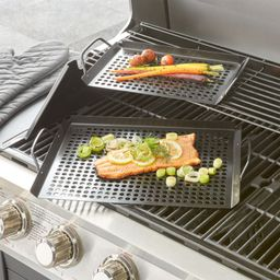 Set of Two Non-stick Grill Trays + Reviews | Crate and Barrel | Crate & Barrel