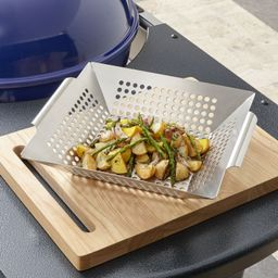 Square Grill Basket + Reviews | Crate and Barrel | Crate & Barrel