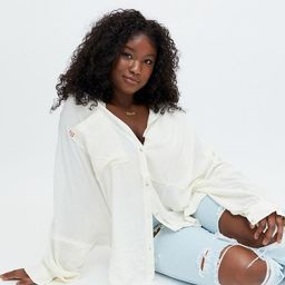 BDG Dougie Slouchy Button-Down Shirt   Urban Outfitters (US and RoW)