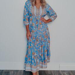 Let It Rain Maxi Dress: Multi | Shophopes
