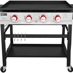 Royal Gourmet GB4000 36-inch 4-Burner Flat Top Propane Gas Grill Griddle, for BBQ, Camping, Red | Amazon (US)