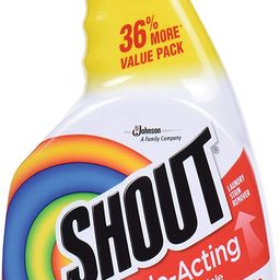 Shout Triple-Acting Laundry Stain Remover Spray Bottle for Everyday Stains, 30 fl oz Value Pack | Amazon (US)