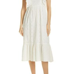 ba&sh Byrd Broderie Anglaise Midi Dress | Nordstrom | Nordstrom