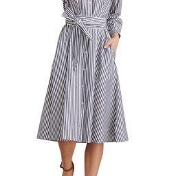 Kelsey Stripe Paper Poplin Long Sleeve Shirtdress | Nordstrom