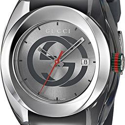 Gucci Swiss Quartz Stainless Steel and Rubber Casual Grey Men's Watch(Model: YA137109)   Amazon (US)