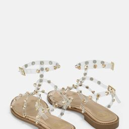 Gold Look Clear Dome Stud Gladiator Sandals | Missguided (US & CA)