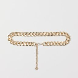 Waist belt in metal chain with trigger clasp. Adjustable length. | H&M (US)