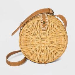 Straw Magnetic Closure Crossbody Bag - Universal Thread™ Natural   Target