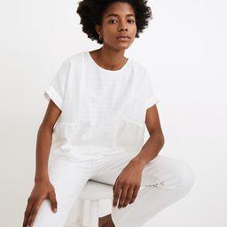 Cuffed-Sleeve Shirred Top | Madewell