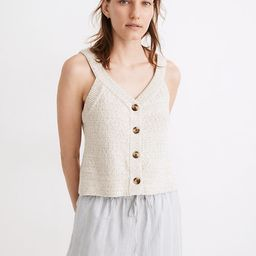 Rainbow Marled Wakefield Button-Front Sweater Tank   Madewell