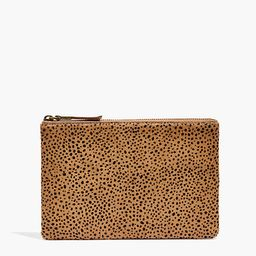 The Leather Pouch Clutch: Dotted Calf Hair Edition   Madewell