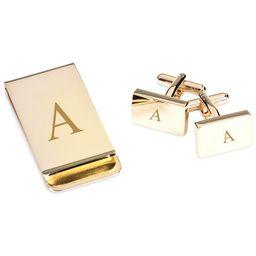 Gold Plated Cufflinks and Money Clip Set | Macys (US)