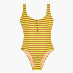Madewell Striped Terry One-Piece Swimsuit | Madewell